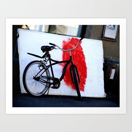 Bike and canvas Art Print