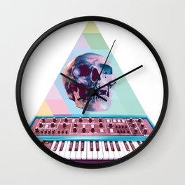 Electro Skull Synthesizer Wall Clock