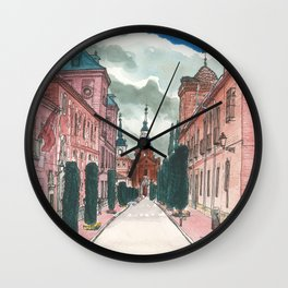 Cloudy street Wall Clock