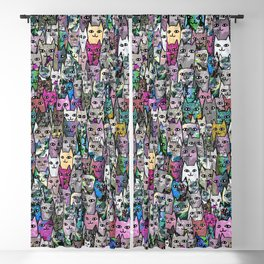 Gemstone Cats CYMK Blackout Curtain