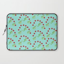 Juggling Frogs - blue background Laptop Sleeve