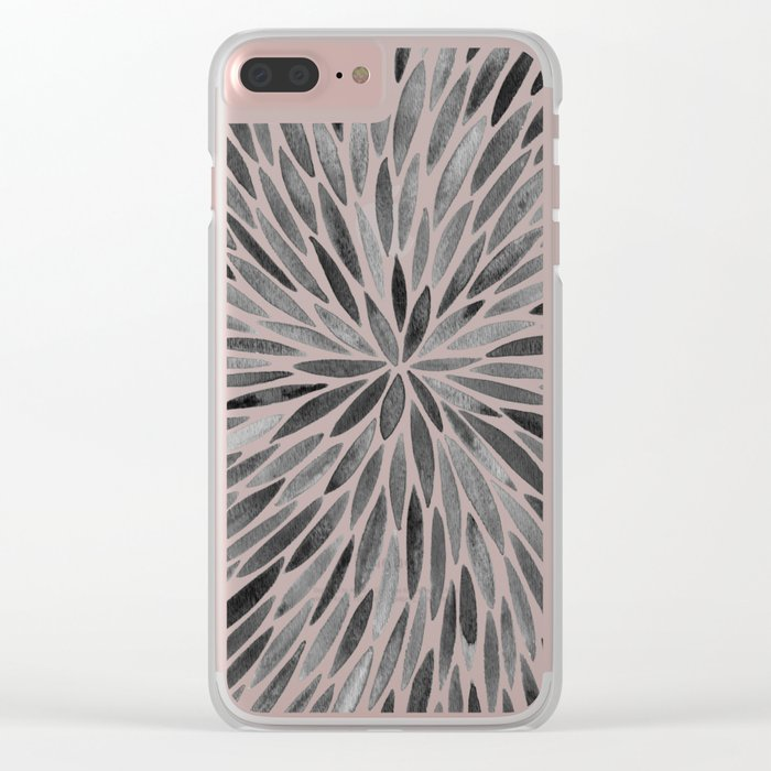 Blackened Burst Clear iPhone Case