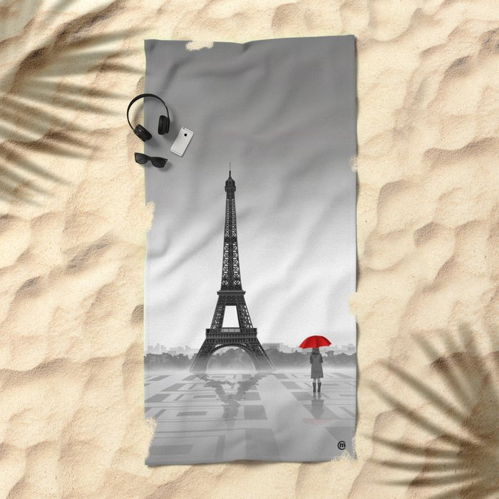 Paris Beach Towel