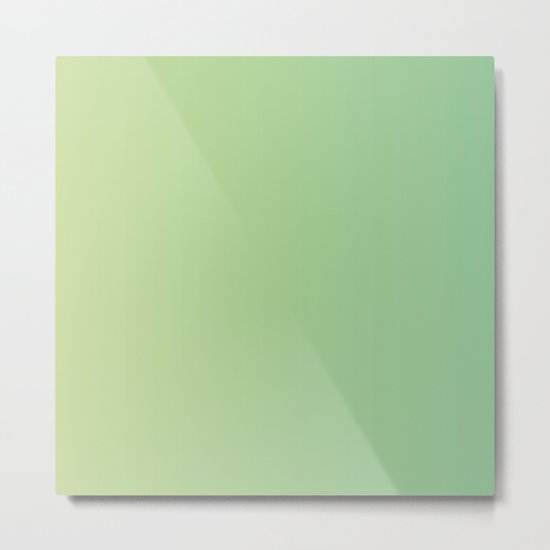 Light Green Gradient Metal Print