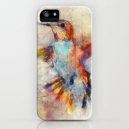 Hummingbird art series iPhone Case