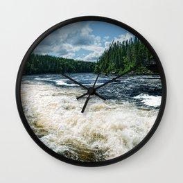 Swim Upstream Wall Clock