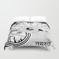 namaste Duvet Covers featuring Namaste by KCollins