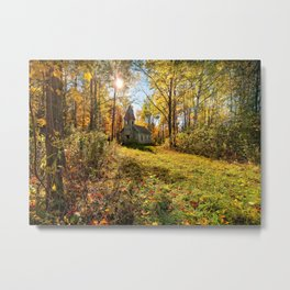 Estonian Church in Fall Metal Print