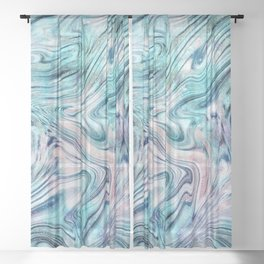 Bohemian Unicorn Marble Dream #2 #pastel #decor #art #society6 Sheer Curtain