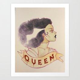 Queen Monster Art Print