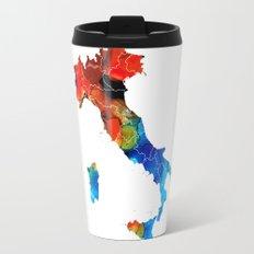 Italy - Italian Map By Sharon Cummings Travel Mug