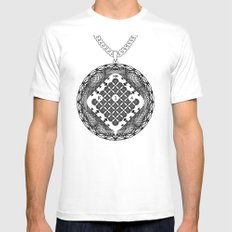 Spirobling XVI MEDIUM White Mens Fitted Tee