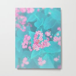 Forget Me Knot - Pink Heart little flowers Metal Print