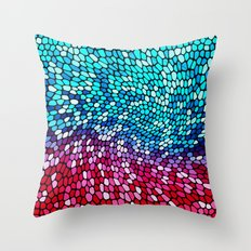 THINK TEAL AND PINK Throw Pillow