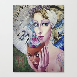 Lady Europe Canvas Print