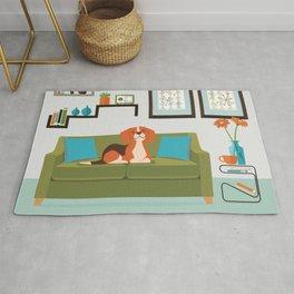 Happy Beagles Make A House A Home Rug