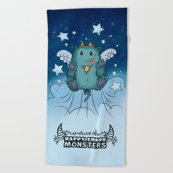 Twinkle Toes the Happy Chaos Monster Beach Towel