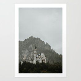 Castle on the hill; Schloss Neuschwanstein | Colourful Travel Photography | Schwangau, Germany (Europe) Art Print