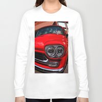 truck Long Sleeve T-shirts featuring Vintage Truck by Mark Alder