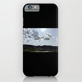 Mountain landscape photography on a cloudy day iPhone Case