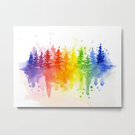 Rainbow Forest Metal Print