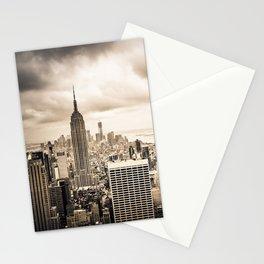 Stormy Manhattan Stationery Cards