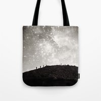 starry night Tote Bags featuring Starry Night  by Laura Ruth