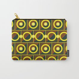 Tiled yellow circles Carry-All Pouch
