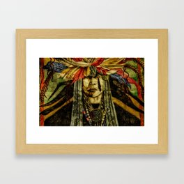 Crying Indian Framed Art Print