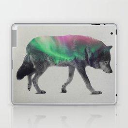 Wolf In The Aurora Borealis Laptop & iPad Skin