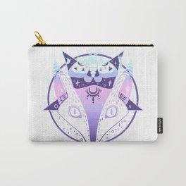 Fox, Moth, Pentagram Pastel Goth Artwork Carry-All Pouch