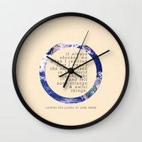 alaska Wall Clocks featuring Alaska by Sarah Turbin