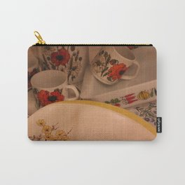 Yellow Vintage Bloom Carry-All Pouch