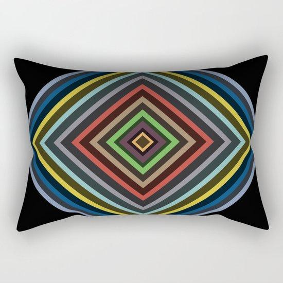 Colorful Geometric Pattern VI Rectangular Pillow