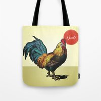 rooster Tote Bags featuring Rooster by Eric Koschnick