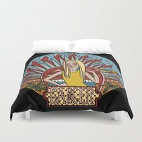 cancer Duvet Covers featuring Cancer by Iria Prol