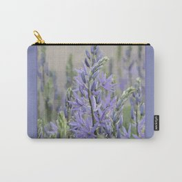 beautiful mauve purple Camassia flower (abstract edit) Carry-All Pouch