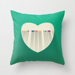 LOVE in Morse Code Throw Pillow