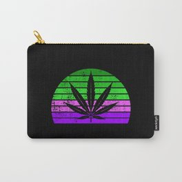 Retro Cannabis Leaf | Smoke Weed 420 Pot Gift Ideas Carry-All Pouch