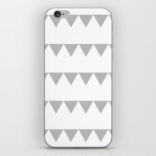 TRIANGLE BANNERS (Gray) iPhone & iPod Skin