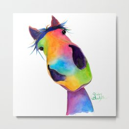 Happy Horse ' HaPPY G & T ' by SHiRLeY MacArTHuR Metal Print