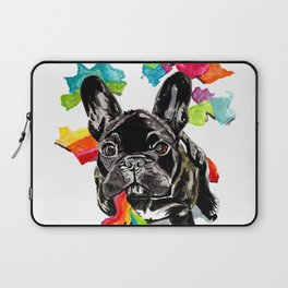 When a dog catches a rainbow Laptop Sleeve