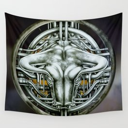 """""""Astrological Mechanism - Taurus"""" Wall Tapestry"""