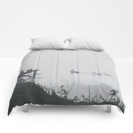 Misty Morning on the Clarence (1994) Comforters