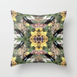 Wildlife Kaleidoscope Throw Pillow
