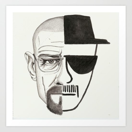 i started watching breaking bad when it was streaming on netflix Art Print