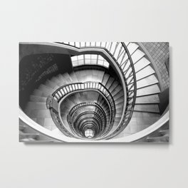 Architecture stairwell - Photography black and white Metal Print