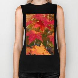 Fiery Autumn Maple Leaves 4966 Biker Tank