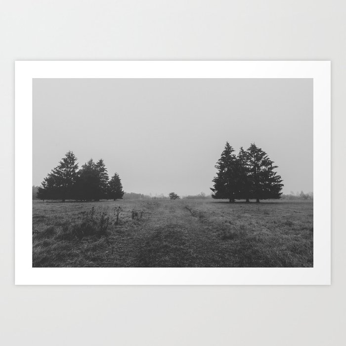 Siblings - black and white landscape photography Art Print