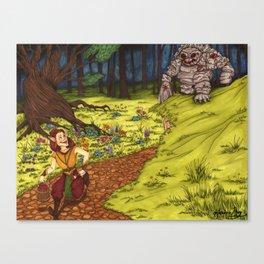 Mischievous Elf Canvas Print